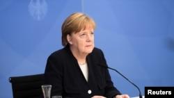 Kanselir Jerman Angela Merkel di Berlin, 5 Mei 2021. (REUTERS/Annegret Hilse)