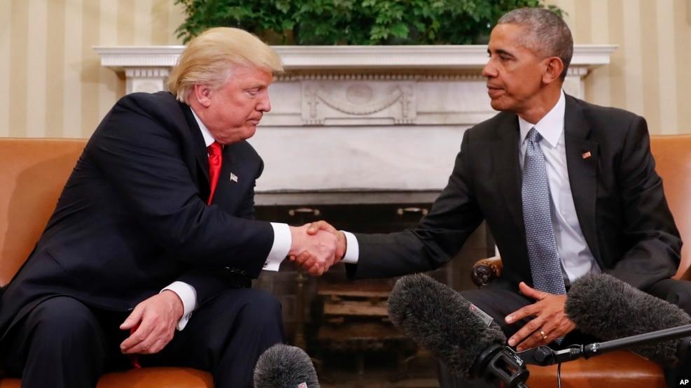 Presidenti Obama takohet me Presidentin e zgjedhur Donald Trump