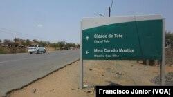 Moatize, na província de Tete