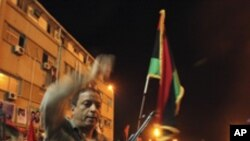 반 가다피 시위를 벌이는 리비아 반군 세력