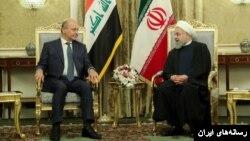 دیدار روسای جمهوری ایران و عراق در سفر برهم صالح به تهران