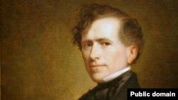 Franklin Pierce in portrait by George Peter Alexander Healy