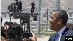 El viaje representó la primera visita del presidente Obama a la frontera con México.