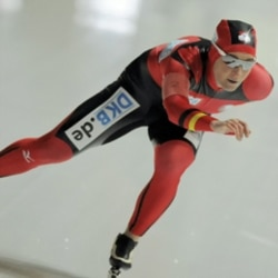 German Olympic speedskating champion Claudia Pechstein competes in Erfurt, Germany, in February. She has returned to the sport after a two-year doping ban.