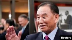 北韓高級官員金英哲在北韓國營媒體上再次露面,圖為金英哲資料照。