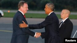 Барак Обама и Урмас Паэт.
