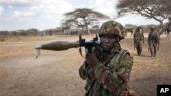 Soldado queniano na Somália