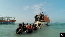 Des Somaliens tentant de joindre le Yemen