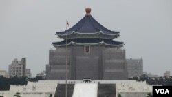位於台北市中心的中正紀念堂(美國之音張永泰攝)