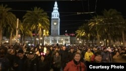 Đêm giao thừa ở San Francisco (ảnh Bùi Văn Phú)