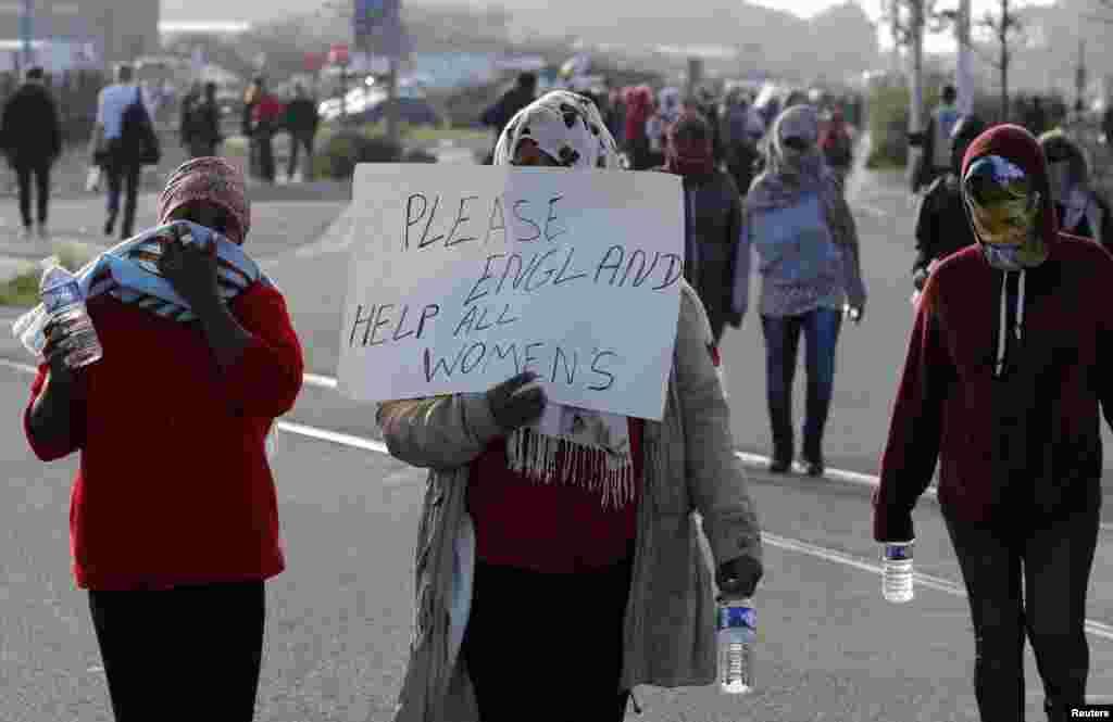 Jami'an a Faransa sun rushe sansanin Calais dake Faransa inda 'yan gudun hijiran Habasha fiye da 100 ke neman mafaka. Oktoba 25, 2016