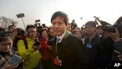 中國億萬富豪之一:中國小米科技創始人董事長兼首席執行官雷軍 (資料照片)