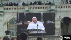 Papa Francisco en su discurso en el Congreso de EE.UU.