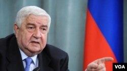ولید معلم وزیر امور خارجه سوریه