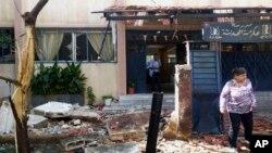 Ngôi trường sau vụ nổ bom