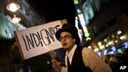 西班牙民眾繼續抗議高失業率和脆弱經濟