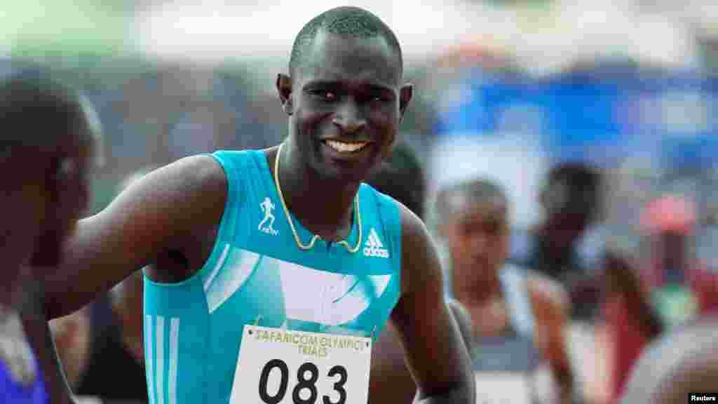 David Lekuta Rudisha 27 ans, un athlète kényan spécialiste du 800 mètres, il a remporté une médaille d'or dans les jeux olympiques à l'ondres en 2012.