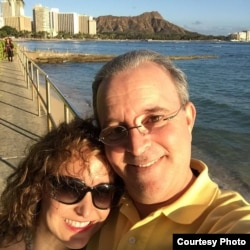 Lisa Schor and Dave Halpert in Hawaii.