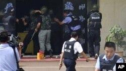 چینی خطے سنکیانگ میں تشدد کی کارروائی کے بعد کے مناظر (فائل فوٹو)