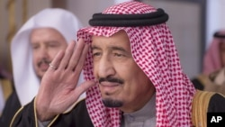 FILE - Crown Prince Salman gestures during a session at the Shura Council.
