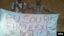 Manifestants en Angola, le 22 août 2016.