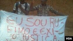 Angola Malanje Manifestantes