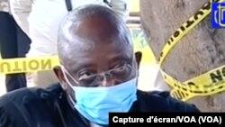 Zuzi Raphael Yanyi na bosamabisami ya Vital Kamerhe na boloko ya Makala (CPRK), Kinshasa, 11 mai 2020.