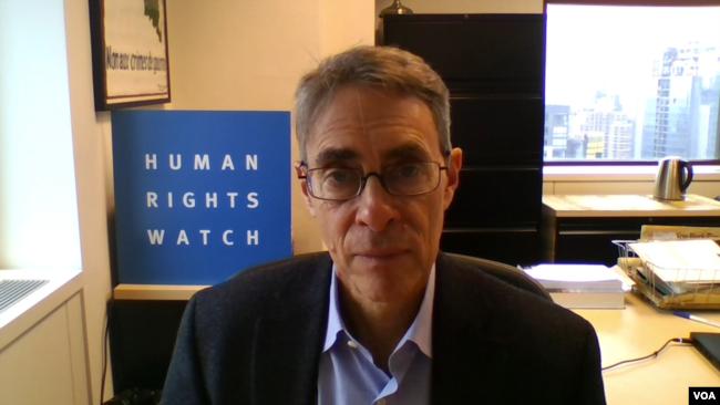 人权观察执行总监罗斯接受美国之音采访