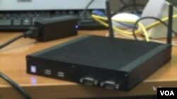 The SpiderRadio router is able to switch among Wi-Fi networks without overloading any of them. (VOA TV)