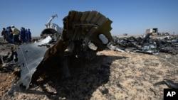 Olupina ruskog aviona koji se srušio na Sinajskom poluostrvu
