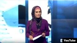 Người dẫn chương trình tin tức của Iran Sheena Shirani.