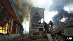 Взрыв на фабрике в Китае (архивное фото)