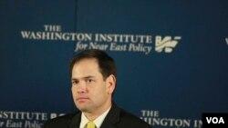 Марко Рубио выступает в Вашингтонском Институте по изучению ближневосточной политики