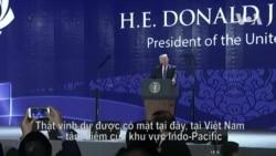 Điểm nhấn bài phát biểu của TT Trump tại APEC Việt Nam 2017