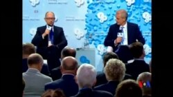 2014-09-13 美國之音視頻新聞: 亞采紐克指責俄企圖鯨吞整個烏克蘭