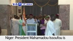 VOA60 Africa - Niger: President Mahamadou Issoufou is re-elected to a second term