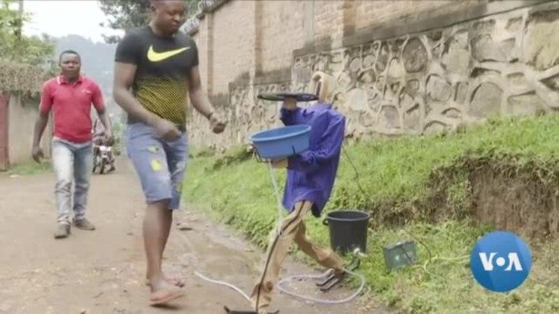 Un bassin sans contact pour faire face à la propagation du virus Ebola en RDC