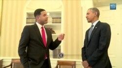 Obama se reúne con su imitador