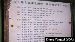 Danh sách các trường hợp gián điệp Trung Quốc trong những năm gần đây.