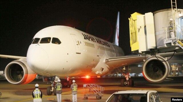 지난 9월 일본 교도 공항 착륙 중인 보잉 787기. (자료사진)