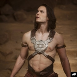 "Taylor Kitsch, as ""John Carter,"" spends a great deal of the film wearing barely-there outfits."