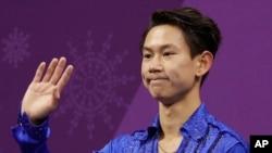 지난 2월 평창동계올림픽 남자 피겨스케이팅 쇼트프로그램 연기를 끝낸 데니스 텐.