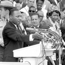 Martin Luther King Jr. delivered his most famous speech in 1963 to two hundred fifty thousand people gathered in Washington D.C.