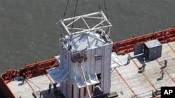 Dome designed to trap oil spill