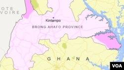 Kintampo, Ghana, wurin da hadarin mota ya faru