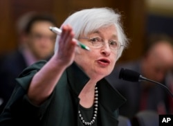 Federal Reserve Chair Janet Yellen testifies before the House Financial Services Committee hearing on monetary policy and the state of the economy, on Capitol Hill in Washington, July 15, 2015.