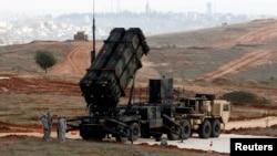 터키 가지안텝 군사기지에 배치된 미국의 패트리엇 미사일. (자료사진)