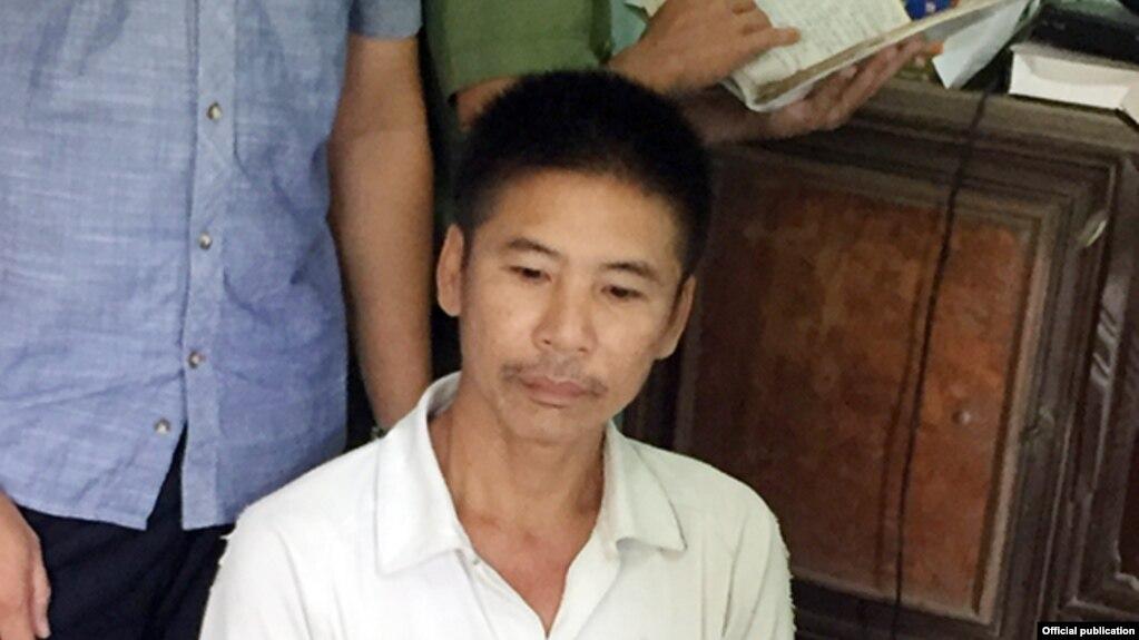 Ông Nguyễn Trung Trực khi bị bắt ngày 4/8/2017. (Ảnh: CAND)