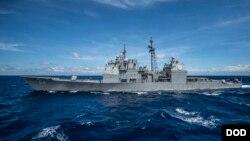 """""""安提坦號""""導彈巡洋艦資料照(美國海軍資料照片)"""