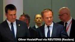 Donald Tusk, predsednik Evropskog saveta i Jurij Ratas, premijer Estonije